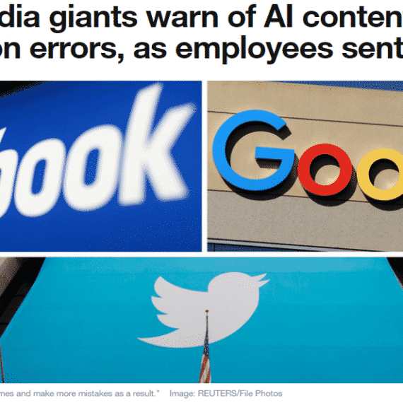 Social media AI content moderation cann't replace human content moderators