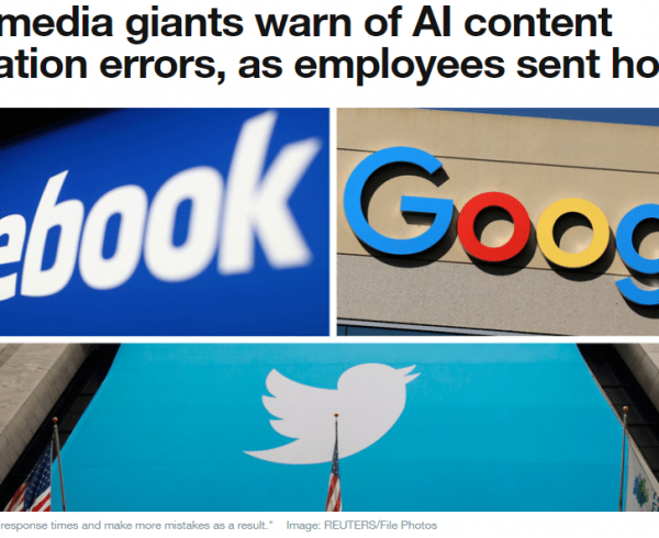Social media AI content moderation cann't replace human content moderators