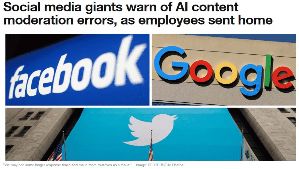 Social media AI content moderation cann't replace human moderators